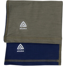Aclima LightWool Headover Barn Insignia Blue/Ranger Green